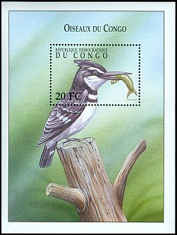 Cl: Pied Kingfisher (Ceryle rudis) SG 1617d (2000)