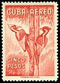 Cl: Ivory-billed Woodpecker (Campephilus principalis) SG 782 (1956) 5500