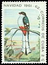 Cl: Cuban Trogon (Priotelus temnurus)(Endemic or near-endemic)  SG 1003b (1961) 125