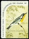 Cl: Yellow-throated Warbler (Dendroica dominica) SG 1291a (1965) 200