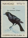 Cl: Cuban Blackbird (Dives atroviolacea) <<Toti>>  SG 1810 (1970) 20