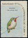 Cl: Cuban Tody (Todus multicolor) <<Pedorrera>>  SG 1813b (1970) 20