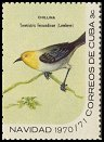 Cl: Yellow-headed Warbler (Teretistris fernandinae) <<Chillina>>  SG 1814d (1970) 35