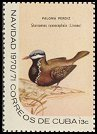 Cl: Blue-headed Quail-Dove (Starnoenas cyanocephala) <<Paloma perdiz>>  SG 1815c (1970) 90
