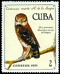 Cl: Cuban Pygmy-Owl (Glaucidium siju) <<Siju Platanero>> (Endemic or near-endemic)  SG 1891 (1971) 40