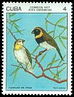 Cl: Cuban Grassquit (Tiaris canora) <<Tomeguin del Pinar>> (Endemic or near-endemic)  SG 2354 (1977) 55