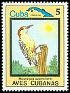 Cl: West Indian Woodpecker (Melanerpes superciliaris) SG 2956 (1983) 60