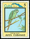 Cl: Cuban Parakeet (Aratinga euops)(Endemic or near-endemic)  SG 2958 (1983) 60