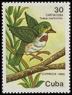 Cl: Cuban Tody (Todus multicolor) <<Cartacuba>> (Endemic or near-endemic)  SG 3048 (1986) 275