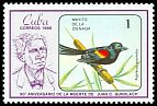 Cl: Red-shouldered Blackbird (Agelaius assimilis) <<Mayito de la Cienaga>> (Endemic or near-endemic)  SG 3152 (1986) 35