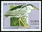 Cl: Black-crowned Night-Heron (Nycticorax nycticorax)(Repeat for this country)  SG 3831 (1993) 35