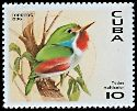 Cl: Cuban Tody (Todus multicolor)(Endemic or near-endemic)  SG 4079 (1996)