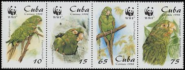 Cl: Cuban Parakeet (Aratinga euops)(Endemic or near-endemic)  SG 4298-1 (1998) 325