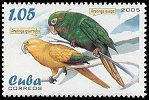 Cl: Cuban Parakeet (Aratinga euops)(Endemic or near-endemic)  SG 4822 (2005)