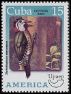 Cl: Cuban Woodpecker (Xiphidiopicus percussus)(Endemic or near-endemic)  SG 4696 (2003)