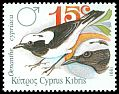 Cl: Cyprus Wheatear (Oenanthe cypriaca)(Endemic or near-endemic)  SG 802 (1991) 70
