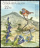Cl: Bluethroat (Luscinia svecica) <<Slavik modracek tundrovy>> (Repeat for this country)  SG 438c (2005)  [3/58]