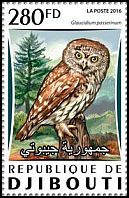 Cl: Eurasian Pygmy-Owl (Glaucidium passerinum)(Out of range) (I do not have this stamp)  new (2016)