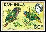Cl: Red-necked Parrot (Amazona arausiaca) <<Jacquot>>  SG 306 (1970) 325