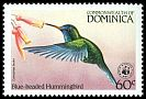 Cl: Blue-headed Hummingbird (Cyanophaia bicolor)(Endemic or near-endemic)  SG 872 (1984) 375