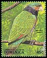Cl: Imperial Parrot (Amazona imperialis)(Endemic or near-endemic)  SG 1136 (1988) 50