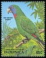 Cl: Red-necked Parrot (Amazona arausiaca)(Endemic or near-endemic)  SG 1140 (1988) 50