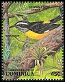 Cl: Bananaquit (Coereba flaveola)(Repeat for this country)  SG 1142 (1988) 50