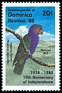 Cl: Imperial Parrot (Amazona imperialis)(Endemic or near-endemic)  SG 1181 (1988) 90