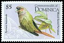 Cl: Red-eared Parakeet (Pyrrhura hoematotis)(Out of range and no other stamp)  SG 1953 (1995) 210