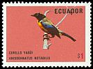 Cl: Black-chinned Mountain-Tanager (Anisognathus notabilis) <<Curillo yagui>>  SG 1536 (1973) 75