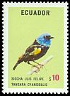 Cl: Blue-necked Tanager (Tangara cyanicollis) <<Sigcha Luis Felipe>>  SG 1540 (1973) 500