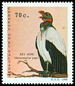 Cl: King Vulture (Sarcoramphus papa) <<Rey zope>> (Repeat for this country)  SG 2093 (1989) 50