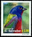 Cl: Painted Bunting (Passerina ciris) <<Siete colores>>  SG 2519 (2000) 35