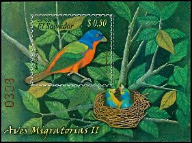 Cl: Painted Bunting (Passerina ciris)(Repeat for this country)  SG 2805 (2007) 100