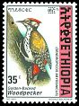 Cl: Abyssinian Woodpecker (Dendropicos abyssinicus)(Repeat for this country)  SG 1697 (1998) 25
