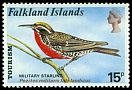 Cl: Long-tailed Meadowlark (Sturnella loyca falklandica) SG 299 (1974) 1200