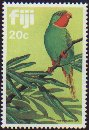 Cl: Red-throated Lorikeet (Charmosyna amabilis) SG 651 (1983)