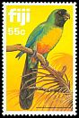Cl: Masked Shining-Parrot (Prosopeia personata)(Endemic or near-endemic)  SG 653 (1983)
