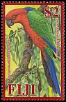 Cl: Red Shining-Parrot (Prosopeia tabuensis splendens)(Endemic or near-endemic)  SG 1396 (2008)