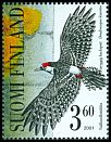 Cl: White-backed Woodpecker (Dendrocopos leucotos) <<valkoselkatikka>> (Repeat for this country)  SG 1635c (2001) 333