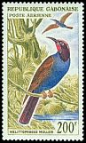 Cl: Blue-headed Bee-eater (Merops muelleri) SG 172 (1963) 650