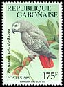 Cl: Grey Parrot (Psittacus erithacus) <<Perroquet gris du Gabon>> (Repeat for this country)  SG 1023 (1989) 180