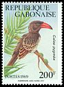 Cl: Red-billed Dwarf Hornbill (Tockus camurus) <<Calao pygmee>>  SG 1024 (1989) 240
