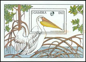Cl: Great White Pelican (Pelecanus onocrotalus) SG 769b (1988) 150