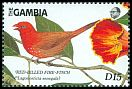 Cl: Red-billed Firefinch (Lagonosticta senegala) SG 876b (1989) 375