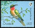 Cl: Red-throated Bee-eater (Merops bulocki)(Repeat for this country)  SG 1014 (1990) 70