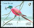 Cl: Northern Carmine Bee-eater (Merops nubicus) SG 1023 (1990) 70