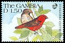 Cl: Red-billed Firefinch (Lagonosticta senegala)(Repeat for this country)  SG 1123 (1991) 40