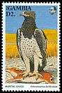 Cl: Martial Eagle (Polemaetus bellicosus)(Repeat for this country)  SG 1502 (1993) 100