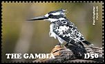 Cl: Pied Kingfisher (Ceryle rudis)(Repeat for this country) (I do not have this stamp)  new (2015)